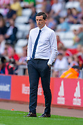 Sunderland AFC manager, Jack Ross on the touchline during the EFL Sky Bet League 1 match between Sunderland and AFC Wimbledon at the Stadium Of Light, Sunderland, England on 24 August 2019.