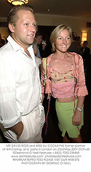 MR DAVID ROSS and MISS ALI COCKAYNE former partner of Will Carling, at a  party in London on 23rd May 2001.	OON 65