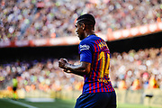 Malcom Filipe from Brasil celebrating his goal during the Joan Gamper trophy game between FC Barcelona and CA Boca Juniors in Camp Nou Stadium at Barcelona, on 15 of August of 2018, Spain, Photo Xavier Bonilla / SpainProSportsImages / DPPI / ProSportsImages / DPPI