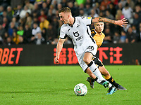 Football - 2019 / 2020 EFL Carabao (League) Cup - Second Round: Swansea City vs. Cambridge United<br /> <br /> Ben Wilmot of Swansea City on the ball, at Liberty Stadium.<br /> <br /> COLORSPORT/WINSTON BYNORTH