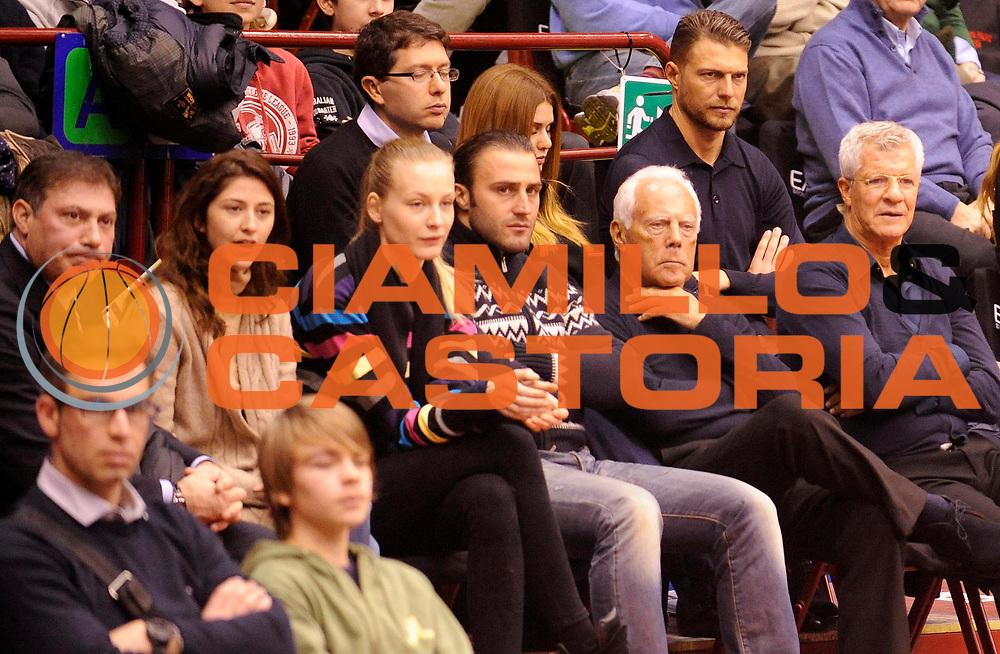 DESCRIZIONE : Milano Lega A 2012-13 EA7 Olimpia Armani Milano Saie3 Bologna<br /> GIOCATORE : Patron Giorgio Armani<br /> SQUADRA : EA7 Olimpia Armani Milano <br /> EVENTO : Campionato Lega A 2012-2013<br /> GARA :  EA7 Olimpia Armani Milano Saie3 Bologna<br /> DATA : 27/01/2013<br /> CATEGORIA : Vip Patron Giorgio Armani Parterre<br /> SPORT : Pallacanestro<br /> AUTORE : Agenzia Ciamillo-Castoria/A.Giberti<br /> Galleria : Lega Basket A 2012-2013<br /> Fotonotizia : Milano Lega A 2012-13 EA7 Olimpia Armani Milano Saie3 Bologna<br /> Predefinita :
