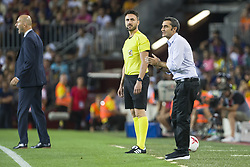 August 13, 2017 - Barcelona, Spain - Ernesto Valverde during the match between FC Barcelona - Real Madrid, for the first leg of the Spanish Supercup, held at Camp Nou Stadium on 13th August 2017 in Barcelona, Spain. (Credit: Urbanandsport / NurPhoto) (Credit Image: © Urbanandsport/NurPhoto via ZUMA Press)