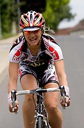 Woman rider  at 4th stage of Tour de Slovenie 2009 from Sentjernej to Novo mesto, 153 km, on June 21 2009, Slovenia. (Photo by Vid Ponikvar / Sportida)