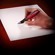Hand painted to  look like someone is holding a pen and about to write on paper. Ray Massey is an established, award winning, UK professional photographer, shooting creative advertising and editorial images from his stunning studio in a converted church in Camden Town, London NW1. Ray Massey specialises in drinks and liquids, still life and hands, product, gymnastics, special effects (sfx) and location photography. He is particularly known for dynamic high speed action shots of pours, bubbles, splashes and explosions in beers, champagnes, sodas, cocktails and beverages of all descriptions, as well as perfumes, paint, ink, water – even ice! Ray Massey works throughout the world with advertising agencies, designers, design groups, PR companies and directly with clients. He regularly manages the entire creative process, including post-production composition, manipulation and retouching, working with his team of retouchers to produce final images ready for publication.