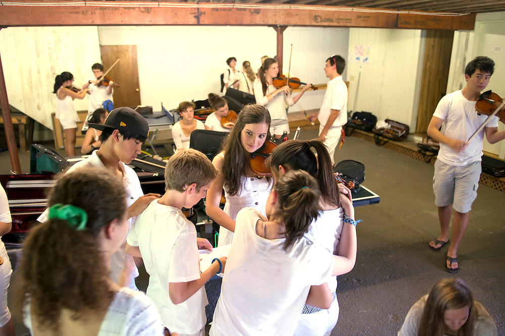 Students rehearse before a concert at Kinhaven Music School in Weston, Vermont. For the Burlington Free Press