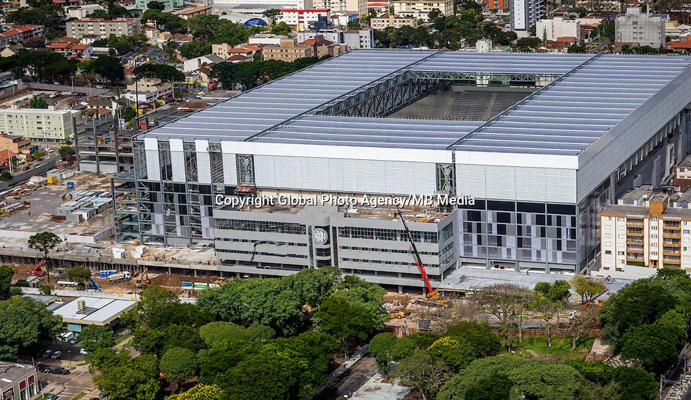 Football Fifa World Cup Brazil 2014<br /> Curitiba - Parana  - Brazil<br /> Panoramic View of Arena Da Baixada Stadium    ,  <br /> Renovation work of the stadium for the next Fifa World Cup Brazil 2014<br /> ( Images take 18/03/2014  )