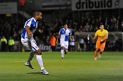 Jermaine Easter of Bristol Rovers scores to make it 2-0 - Mandatory byline: Dougie Allward/JMP - 07966 386802 - 06/10/2015 - FOOTBALL - Memorial Stadium - Bristol, England - Bristol Rovers v Wycombe Wanderers - JPT Trophy