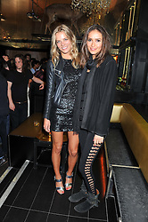 Left to right, SILJE VALLEVIK and SASHA VOLKOVA at the Johnnie Walker Gold Label Reserve Launch Party at Whisky Mist, 35 Hertford Street, London on 18th July 2012.