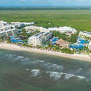 Aerial View of Azul Sensatori hotel. Riviera Maya. Mexico.