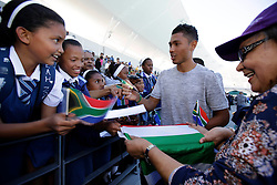 Monday 17th October 2016.<br /> Grand Parade & Greenpoint Athletics Stadium, Cape Town,<br /> Western Cape, South Africa.<br /> <br /> Cape Town Honours South African Olympic And Paralympic Heroes<br /> <br /> Olympic Champion and 400 Metre World Record Holder Wayde Van Niekerk signs autographs for excited fans at Greenpoint Athletics Stadium.<br /> <br /> Cape Town honours the South African Olympic and Paralympic heroes during a special celebratory event held in Cape Town, Western Cape, South Africa on Monday 17 October 2016.<br /> <br /> Picture By: Mark Wessels / Real Time Images.
