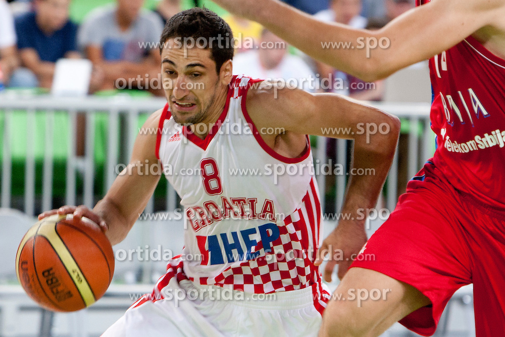 Rok Stipcevic of Croatia during friendly basketball match between National teams of Croatia and Serbia of Adecco Ex-Yu Cup 2012 as part of exhibition games 2012, on August 3rd, 2012, in Arena Stozice, Ljubljana, Slovenia. (Photo by Urban Urbanc / Sportida)