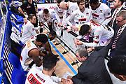 Campionato Italiano Basket 2017/18<br /> 17° Giornata - Ritorno - <br /> Trento 28/01/2018<br /> Dolomiti Energia Trentino - Umana Reyer Venezia79-83 <br /> Nella foto  time out De Raffaele Walter<br /> Foto GiulioCiamillo/Ciamillo-Castoria