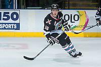 KELOWNA, CANADA - NOVEMBER 20: Kole Lind #16 of Kelowna Rockets skates against the Edmonton Oil Kings on November 20, 2015 at Prospera Place in Kelowna, British Columbia, Canada.  (Photo by Marissa Baecker/ShoottheBreeze)  *** Local Caption *** Kole Lind;