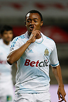 FOOTBALL - FRENCH CHAMPIONSHIP 2011/2012 - L1 - OLYMPIQUE MARSEILLE v OGC NICE  - 6/11/2011 - PHOTO PHILIPPE LAURENSON / DPPI - ANDRE AYEW (OM) JOY AFTER GOAL
