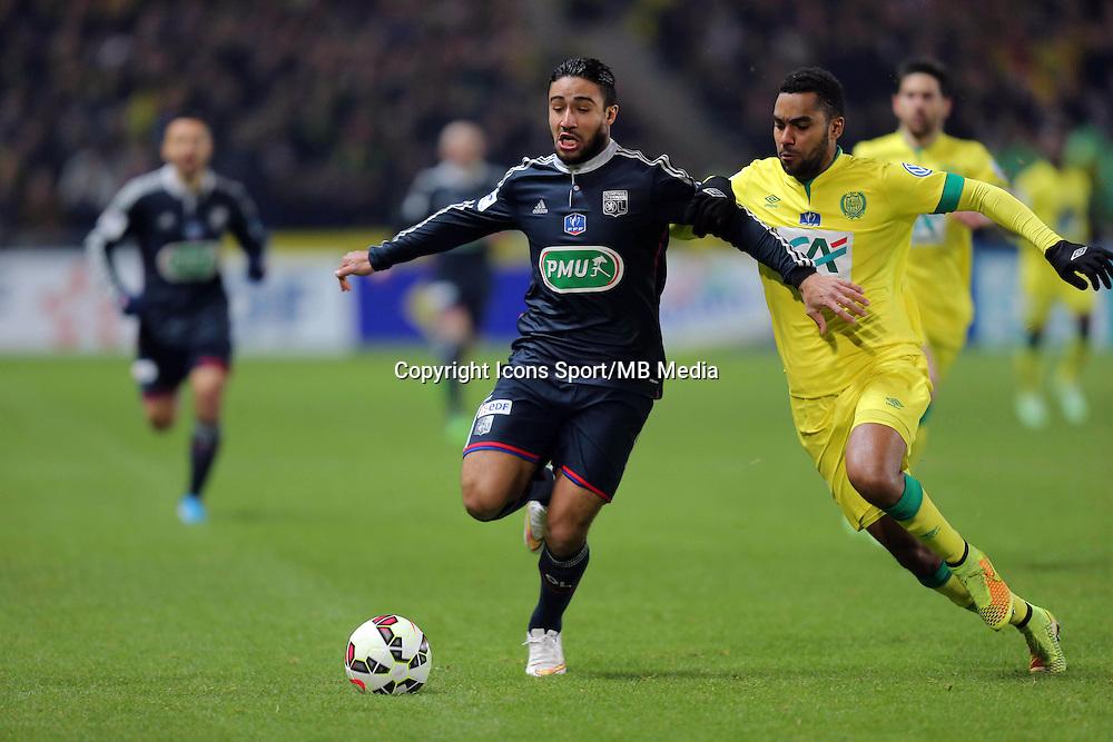 Rachid GHEZZAL / Levy DJIDJI  - 20.01.2015 - Nantes / Lyon  - Coupe de France 2014/2015<br />Photo : Vincent Michel / Icon Sport