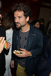 JAIME HAYON at a party to celebrate opening of Galerie Kreo in London held at Il Bottaccio, Grosvenor Place, London on 17th September 2014.