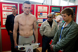Mark Angermann of Germany at official weighing before box fighting, on April 8, 2010, in Avto Delta, Ljubljana, Slovenia.  (Photo by Vid Ponikvar / Sportida)