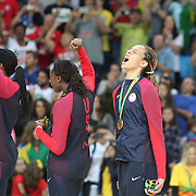 Basketball - Olympics: Day 15  Brittney Griner #15 of United States screams with delight after the USA gold medal win during the USA Vs Spain Women's Basketball Final at Carioca Arena1 on August 20, 2016 in Rio de Janeiro, Brazil. (Photo by Tim Clayton/Corbis via Getty Images)