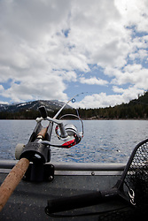 """Fishing Pole at Lake Tahoe 4"" - This fishing pole was photographed on the West shore of Lake Tahoe."