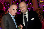 JAMES FOX; ED VICTOR, Orion Authors' Party,  Royal Opera House, Covent Garden, London. 15 February 2011. <br /> -DO NOT ARCHIVE-© Copyright Photograph by Dafydd Jones. 248 Clapham Rd. London SW9 0PZ. Tel 0207 820 0771. www.dafjones.com.