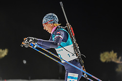 February 12, 2018 - Pyeongchang, Gangwon, South Korea - Anastasiya Kuzmina of Slovakia  competing at Women's 10km Pursuit, Biathlon, at olympics at Alpensia biathlon stadium, Pyeongchang, South Korea. on February 12, 2018. (Credit Image: © Ulrik Pedersen/NurPhoto via ZUMA Press)