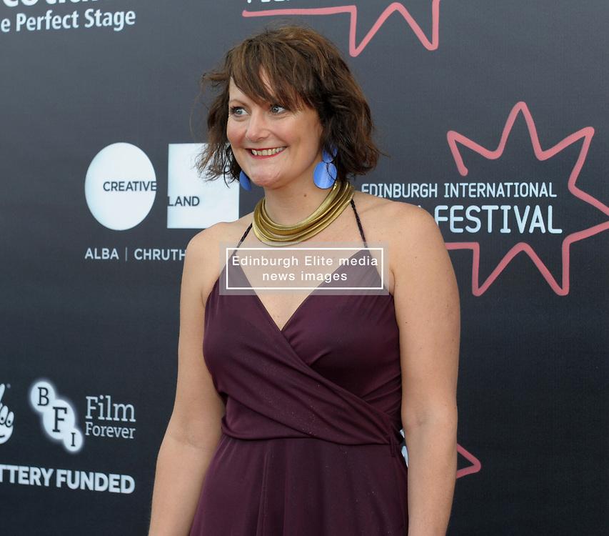 Edinburgh International Film Festival, Thursday, 21st June 2018<br /> <br /> 'EATEN BY LIONS' World Premiere<br /> <br /> Pictured: Producer Hannah Stevenson <br /> <br /> (c) Aimee Todd   Edinburgh Elite media