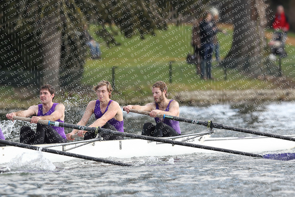2012.02.25 Reading University Head 2012. The River Thames. Division 1. University of London Boat Club IM3 8+