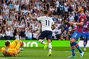 Goal Tottenham Hotspur midfielder Erik Lamela (11) scores a goal and celebrates 4-0 during the Premier League match between Tottenham Hotspur and Crystal Palace at Tottenham Hotspur Stadium, London, United Kingdom on 14 September 2019.