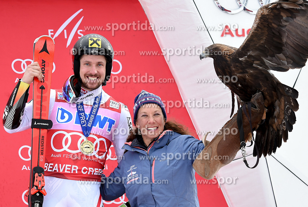 03.12.2017, Beaver Creek, USA, FIS Weltcup Ski Alpin, Beaver Creek, Riesenslalom, Herren, Siegerehrung, im Bild Marcel Hirscher (AUT, 1. Platz) // Winner Marcel Hirscher of Austria during the winner Ceremony for the men's Giant Slalom of FIS Ski Alpine World Cup at the Beaver Creek, United Staates on 2017/12/03. EXPA Pictures © 2017, PhotoCredit: EXPA/ Erich Spiess
