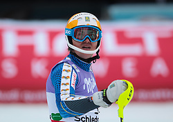 17.02.2013, Planai, Schladming, AUT, FIS Weltmeisterschaften Ski Alpin, Slalom, Herren, 2. Durchgang, im Bild Andre Myhrer (SWE) // Andre Myhrer of Sweden reacts after 2nd run of the mensSlalom at the FIS Ski World Championships 2013 at the Planai Course, Schladming, Austria on 2013/02/17. EXPA Pictures © 2013, PhotoCredit: EXPA/ Johann Groder
