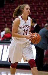 December 15, 2009; Stanford, CA, USA;  Stanford Cardinal forward Kayla Pedersen (14) before the game against the Duke Blue Devils at Maples Pavilion.