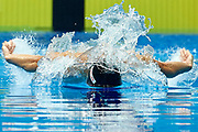 Ashgabat, Turkmenistan - 2017 September 24: Ruslan Nazarow from Turkmenistan competes in Men's 50m Butterfly Heat 4 while Short Course Swimming competition during 2017 Ashgabat 5th Asian Indoor &amp; Martial Arts Games at Aquatics Centre (AQC) at Ashgabat Olympic Complex on September 24, 2017 in Ashgabat, Turkmenistan.<br /> <br /> Photo by &copy; Adam Nurkiewicz / Laurel Photo Services