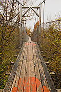 Pawhuska, Oklahoma, The Swinging Bridge, Bird Creek, built in 1926 and refurbished 1970