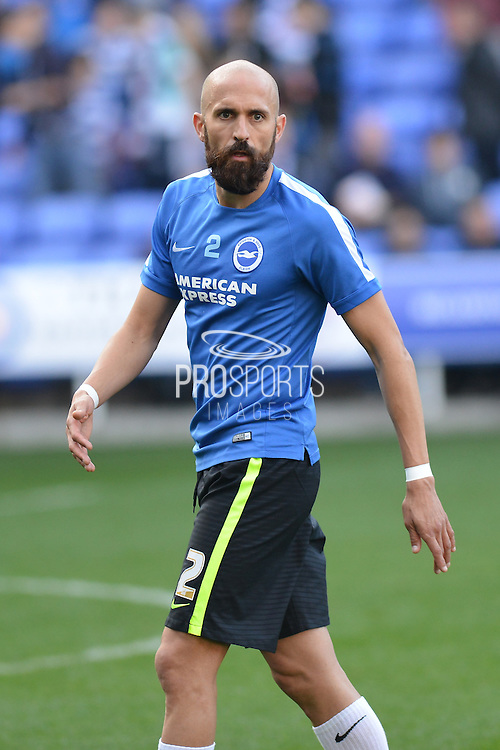 Brighton and Hove Albion defender Bruno Saltor warming up before the Sky Bet Championship match between Reading and Brighton and Hove Albion at the Madejski Stadium, Reading, England on 31 October 2015. Photo by Mark Davies.