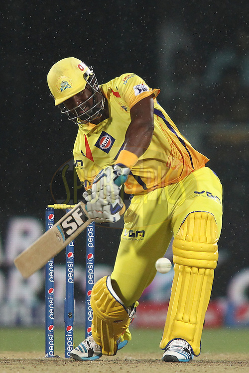 Dwayne Smith of The Chennai Super Kings looks to attack a delivery during match 26 of the Pepsi Indian Premier League Season 2014 between the Delhi Daredevils and the Chennai Super Kings held at the Feroze Shah Kotla cricket stadium, Delhi, India on the 5th May  2014<br /> <br /> Photo by Shaun Roy / IPL / SPORTZPICS<br /> <br /> <br /> <br /> Image use subject to terms and conditions which can be found here:  http://sportzpics.photoshelter.com/gallery/Pepsi-IPL-Image-terms-and-conditions/G00004VW1IVJ.gB0/C0000TScjhBM6ikg