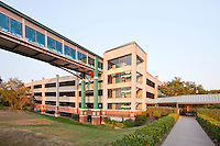 Architectural photo of the Virginia Railway Express parking facility in Woodbridge, VA