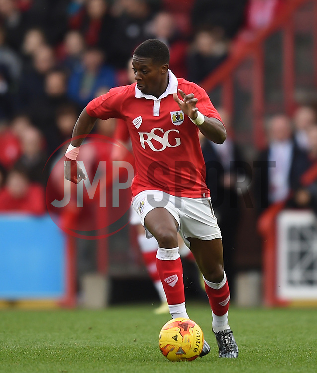 Bristol City's Kieran Agard in action during the Sky Bet League One match between Bristol City and Rochdale at Ashton Gate on 28 February 2015 in Bristol, England - Photo mandatory by-line: Paul Knight/JMP - Mobile: 07966 386802 - 28/02/2015 - SPORT - Football - Bristol - Ashton Gate Stadium - Bristol City v Rochdale - Sky Bet League One