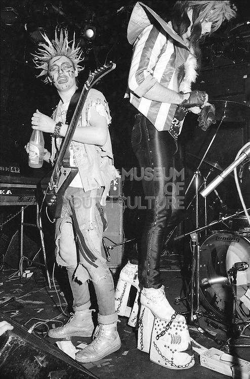 Madhatters on stage, UK, 1980s.
