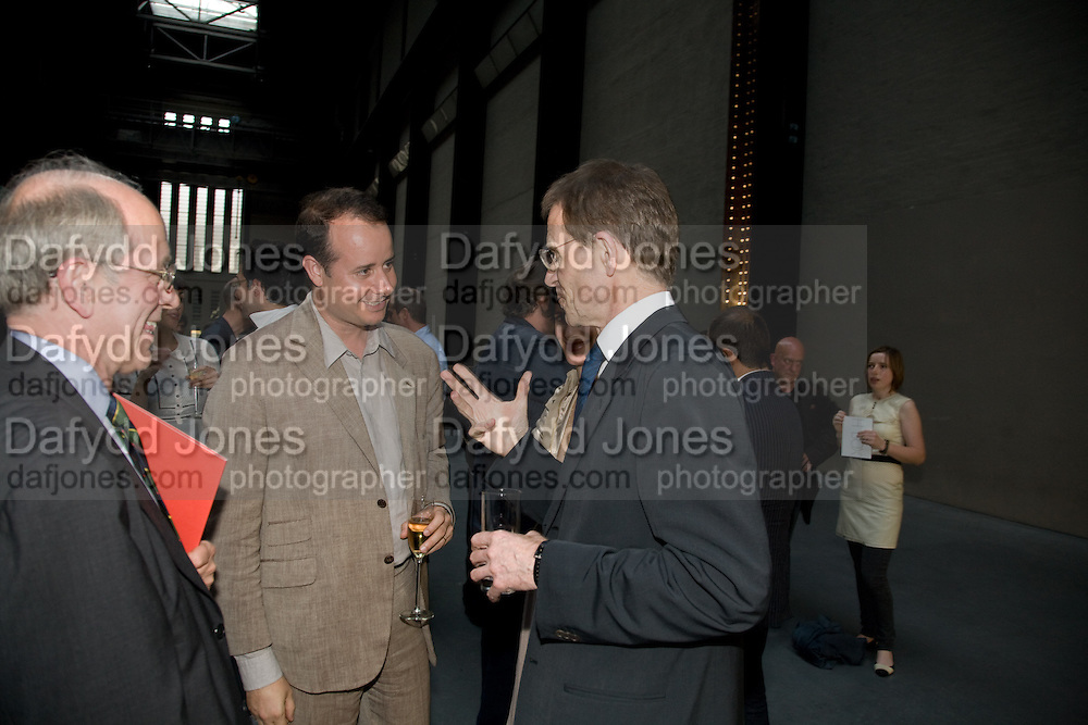 PIERRE-ALEXIS DUMAS; SIR NICHOLAS SEROTA, HBOX opening Hosted by Tate Modern and Hermes.  Turbine Hall. London. 3 July 2008.  *** Local Caption *** -DO NOT ARCHIVE-© Copyright Photograph by Dafydd Jones. 248 Clapham Rd. London SW9 0PZ. Tel 0207 820 0771. www.dafjones.com.