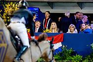 AMSTERDAM - Koning Willem-Alexander en prinses Amalia zijn aanwezig in de RAI tijdens de wereldbeker springen bij Jumping Amsterdam.  prinses margarita