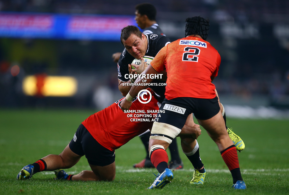 DURBAN, SOUTH AFRICA - JULY 15: Coenie Oosthuizen of the Cell C Sharks during the Super Rugby match between the Cell C Sharks and Sunwolves at Growthpoint Kings Park on July 15, 2016 in Durban, South Africa. (Photo by Steve Haag/Gallo Images)