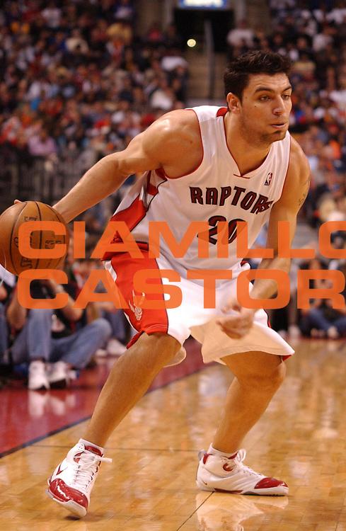 DESCRIZIONE : Toronto Campionato NBA 2007-2008 Toronto Raptors New Orleans Hornets<br /> GIOCATORE : Carlos Delfino<br /> SQUADRA : Toronto Raptors New Orleans Hornets<br /> EVENTO : Campionato NBA 2007-2008 <br /> GARA : Toronto Raptors New Orleans Hornets<br /> DATA : 30/03/2008 <br /> CATEGORIA :<br /> SPORT : Pallacanestro <br /> AUTORE : Agenzia Ciamillo-Castoria/V.Keslassy<br /> Galleria : NBA 2007-2008 <br /> Fotonotizia : Toronto Campionato NBA 2007-2008 Toronto Raptors New Orleans Hornets<br /> Predefinita :