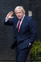 Downing Street, London, July 13th 2016. Former mayor of London and key Brexit campaigner Boris Johnson arrives in Downing street as Theresa May takes office.
