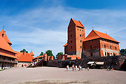 Courtyard view of Trakai Castle, Trakai, Lithuania