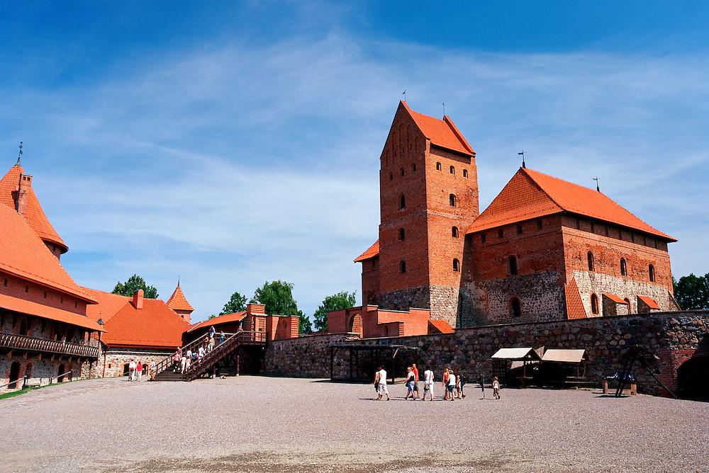 Courtyard view of Trakai Castle, Trakai, Lithuania