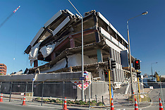 Christchurch-The former Police Station remains after a demolition implosion