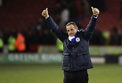 Peterborough United Caretaker-Manager, Dave Robertson celebrates the win at full-time - Photo mandatory by-line: Joe Dent/JMP - Mobile: 07966 386802 - 03/03/2015 - SPORT - Football - Sheffield - Bramall Lane - Sheffield United v Peterborough United - Sky Bet League One