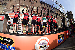 March 18, 2017 - San Remo, Italie - SANREMO, ITALY - MARCH 18 : Team BMC pictured at the start of the UCI WorldTour 108th Milan - Sanremo cycling race with start in Milan and finish at the Via Roma in Sanremo on March 18, 2017 in Sanremo, Italy, 18/03/2017 (Credit Image: © Panoramic via ZUMA Press)