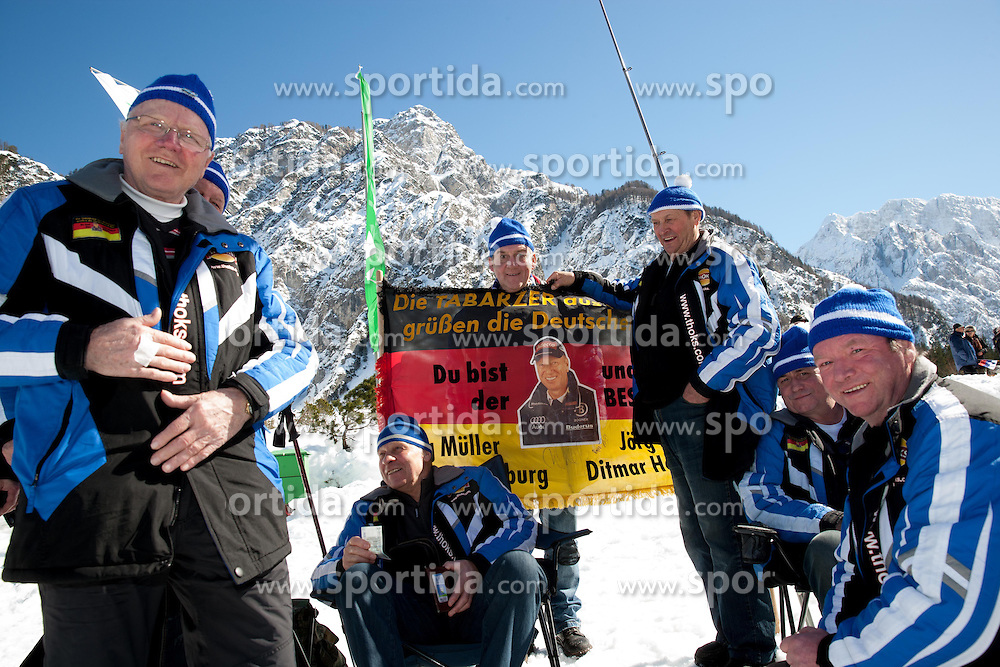 Supporters of Germany during the Flying Hill Individual Competition at 2nd day of FIS Ski Jumping World Cup Finals Planica 2013, on March 22, 2012, in Planica, Slovenia. (Photo by Vid Ponikvar / Sportida.com)