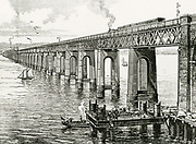 'The second railway bridge over the River Tay, Dundee, Scotland, replacing the one that failed in the storm of 28 December 1879. Designed by William Henry Barlow (1812-1902) and opened in 1887.'